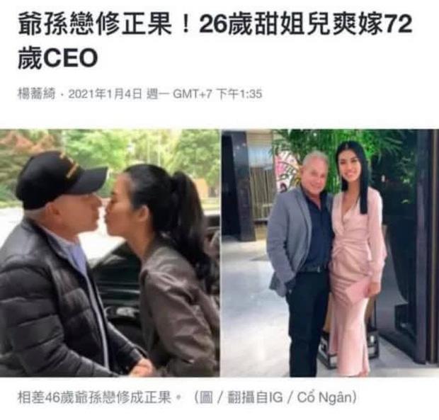 Chuyện tình yêu của cô gái Việt 26 tuổi yêu tỷ phú Mỹ 72 tuổi lên hẳn báo Trung Quốc, chính chủ cũng hoảng hốt vì những điều không ngờ! - Ảnh 2.