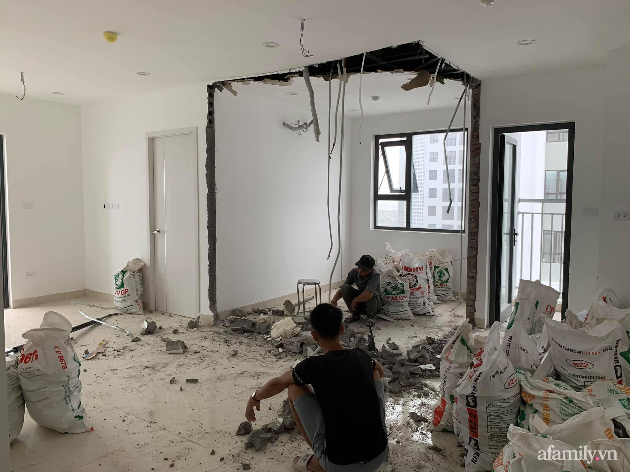 Nhà ở xã hội 69m² siêu ấm áp và tiện ích có chi phí cải tạo 200 triệu đồng của cặp vợ chồng 9X ở Từ Liêm, Hà Nội - Ảnh 3.