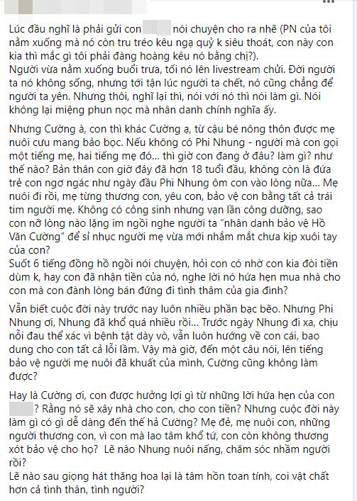 Vy Oanh chỉ trích một nữ đại gia là ác nhân vì khơi lại lùm xùm tiền bạc của Phi Nhung - Hồ Văn Cường - Ảnh 2.