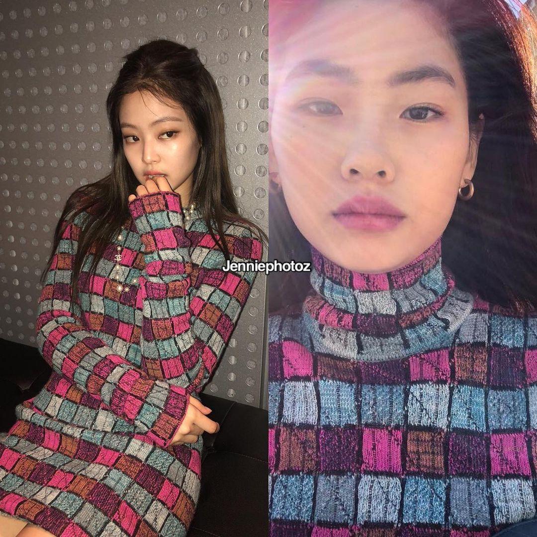 """Jennie và Jung Ho Yeon Jennie và nữ chính Squid Game thân thiết nên cũng đụng hàng chan chát, """"cân não"""" phân định ai sang hơn - Ảnh 7."""