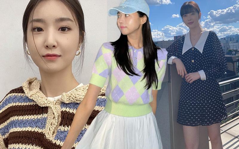Đồ Zara sao Hàn mới sắm, toàn váy áo xinh yêu cực hợp mùa Thu