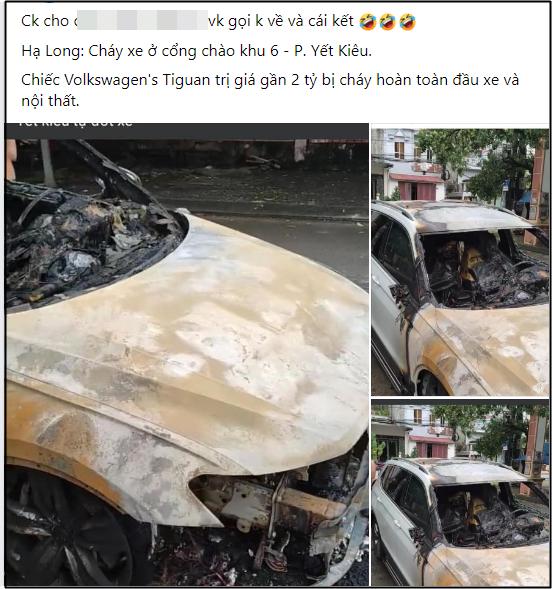 Xôn xao câu chuyện chồng ngoại tình, vợ gọi về không được nên đốt cháy xe hơi 2 tỷ tại Quảng Ninh: Nhìn hiện trường chiếc xe mà tất cả lắc đầu ngao ngán! - Ảnh 1.