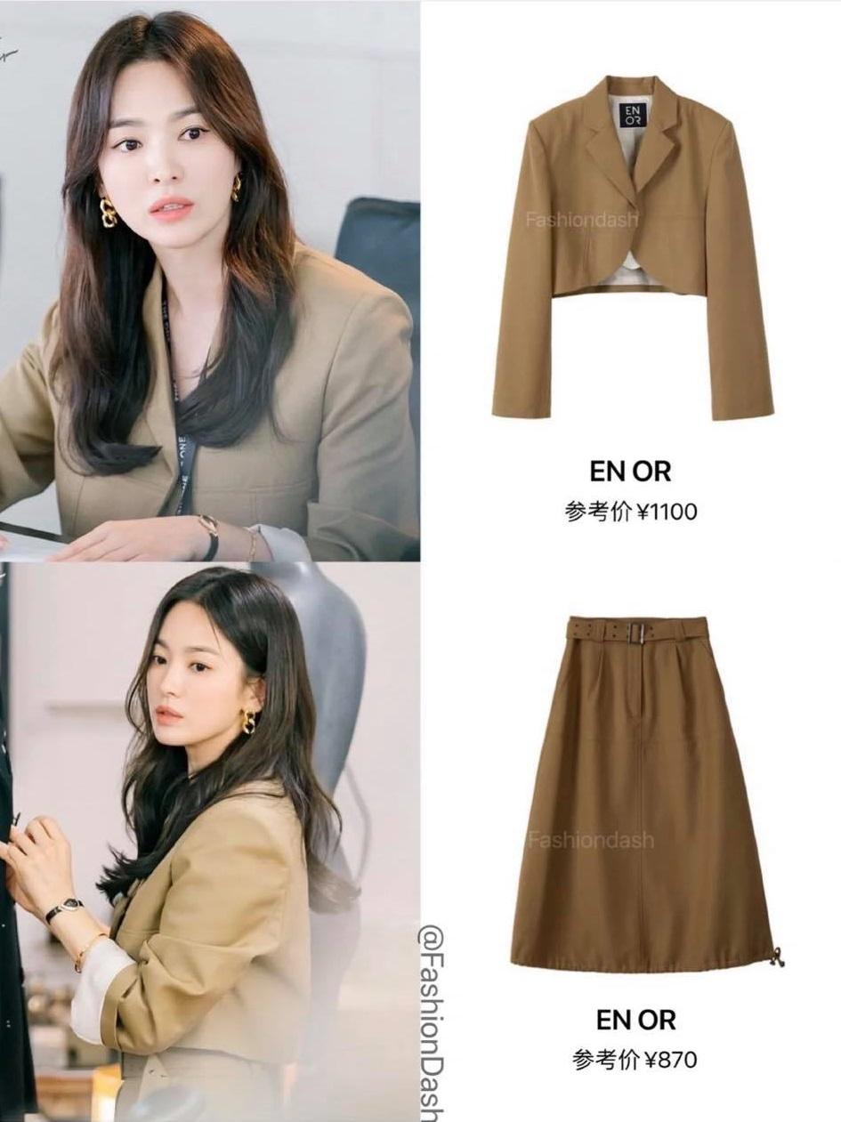 Song hye kyo blazer Blazer của Song Hye Kyo vừa sang lại tôn dáng, từ 200k bạn đã sắm được kiểu na ná - Ảnh 3.