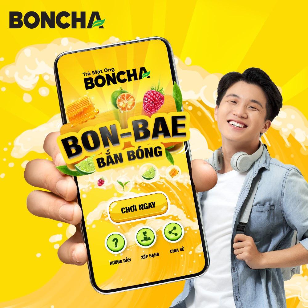 """BONCHA """"tạo sóng mạng xã hội với minigame BON-BAE bắn bóng - Ảnh 1."""