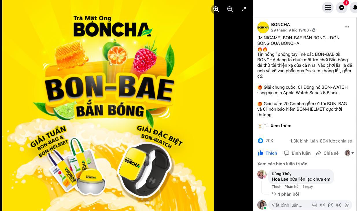 """BONCHA """"tạo sóng mạng xã hội với minigame BON-BAE bắn bóng - Ảnh 4."""