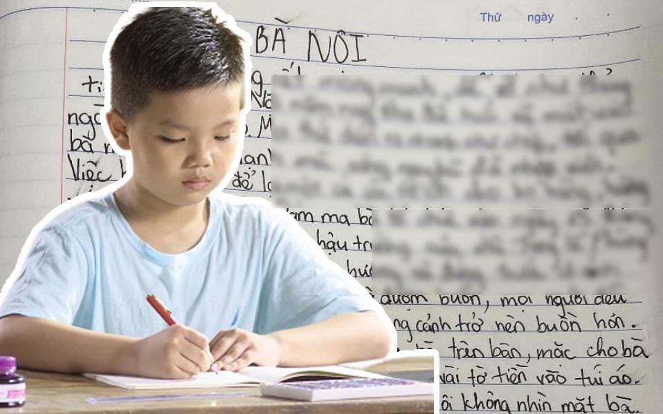 Học sinh viết văn kể về bà nội, thầy giáo đọc xong phải cho ngay điểm 10 cùng lời nhận xét đáng chú ý