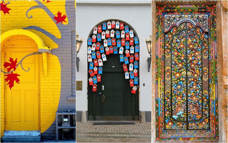 14 cánh cửa nhà ngập tràn màu sắc trên thế giới