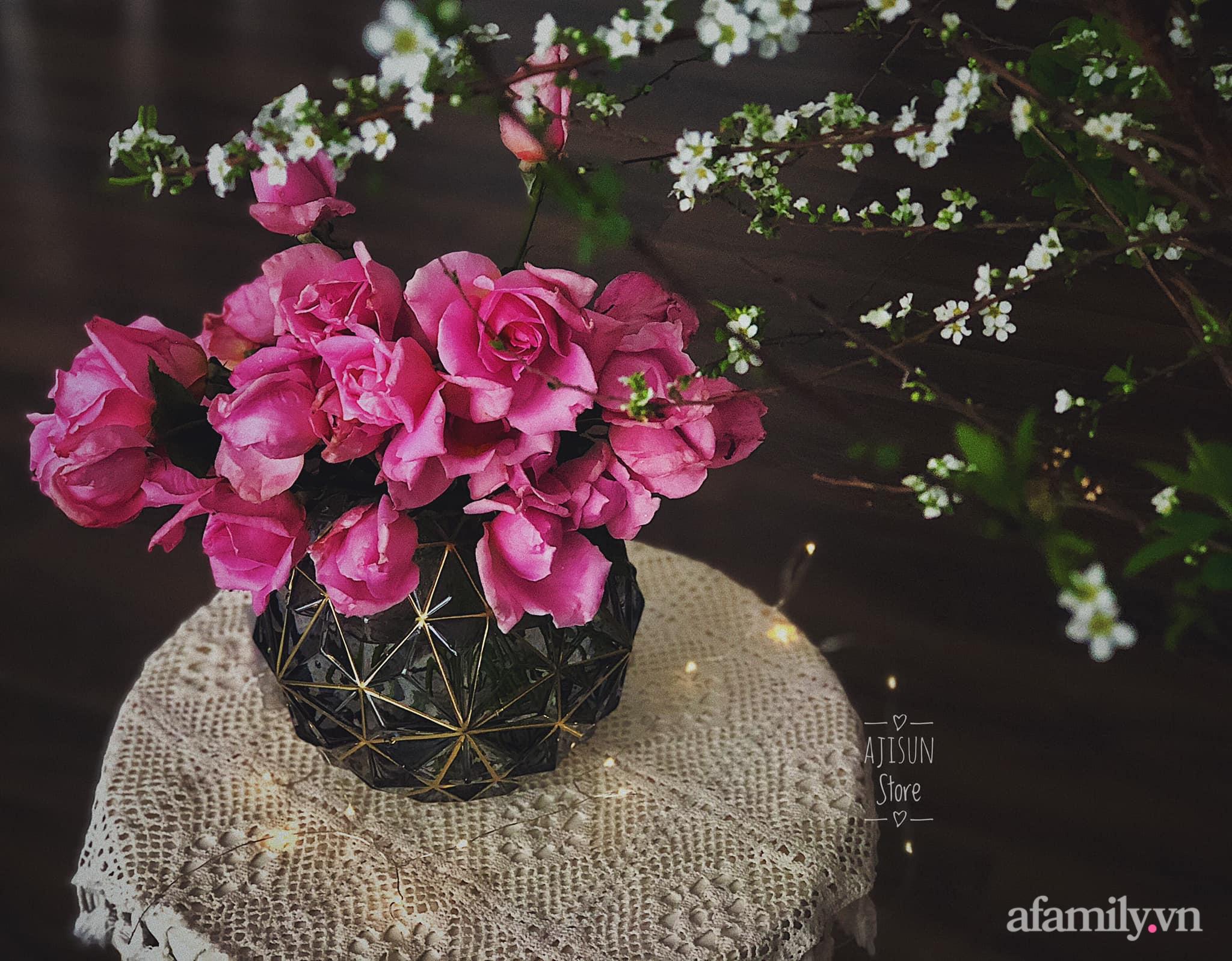 Mẻ đảm Hà Nội khéo mang Tết vào tổ ấm đẹp duyên dáng với gốm và hoa - Ảnh 12.