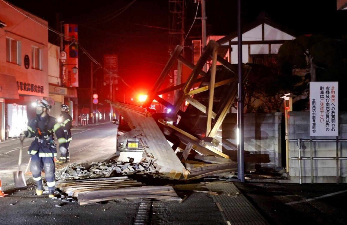 Nhật Bản dồn lực cho công tác khắc phục hậu quả động đất lớn - Ảnh 1.