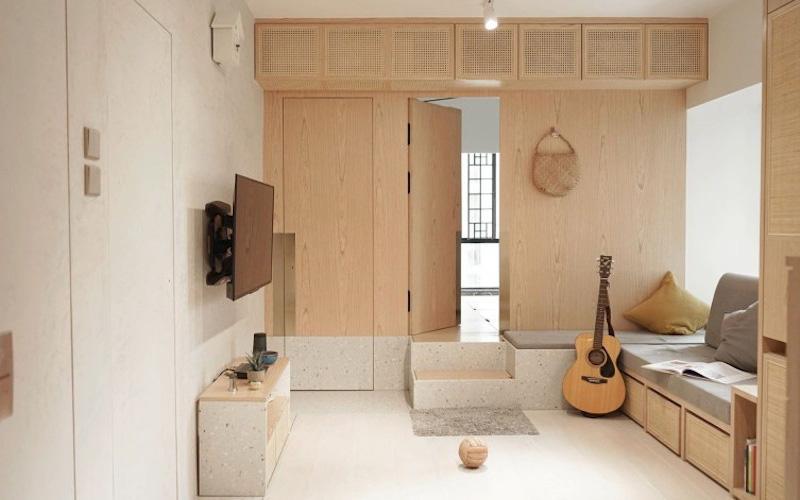 """Căn hộ 12m² với cách bố trí nội thất thông minh """"vừa vặn"""" cho gia đình trẻ"""