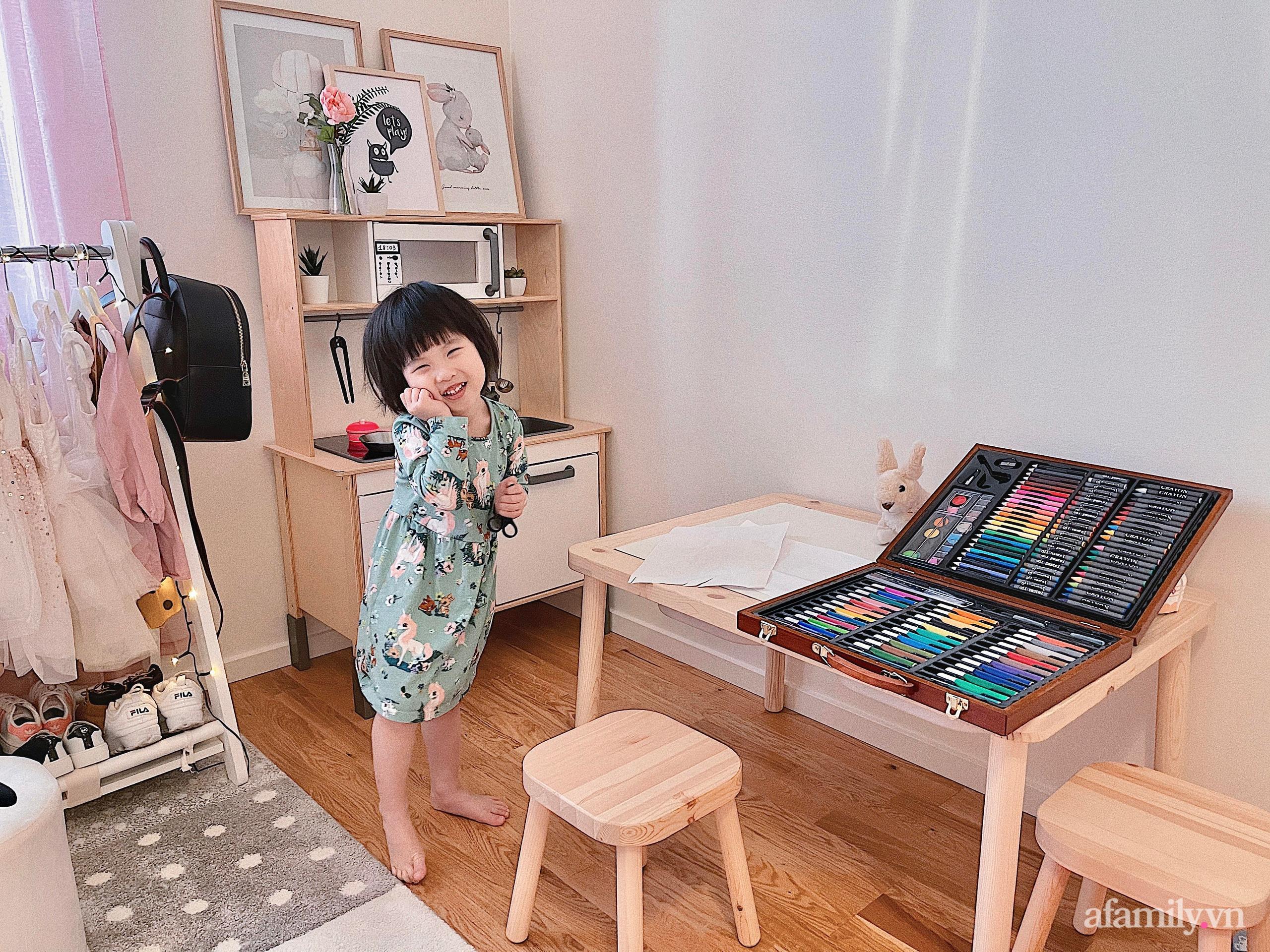 """Căn phòng màu hồng ngọt ngào """"lịm tim"""" bố mẹ thiết kế dành tặng con gái 3 tuổi - Ảnh 3."""