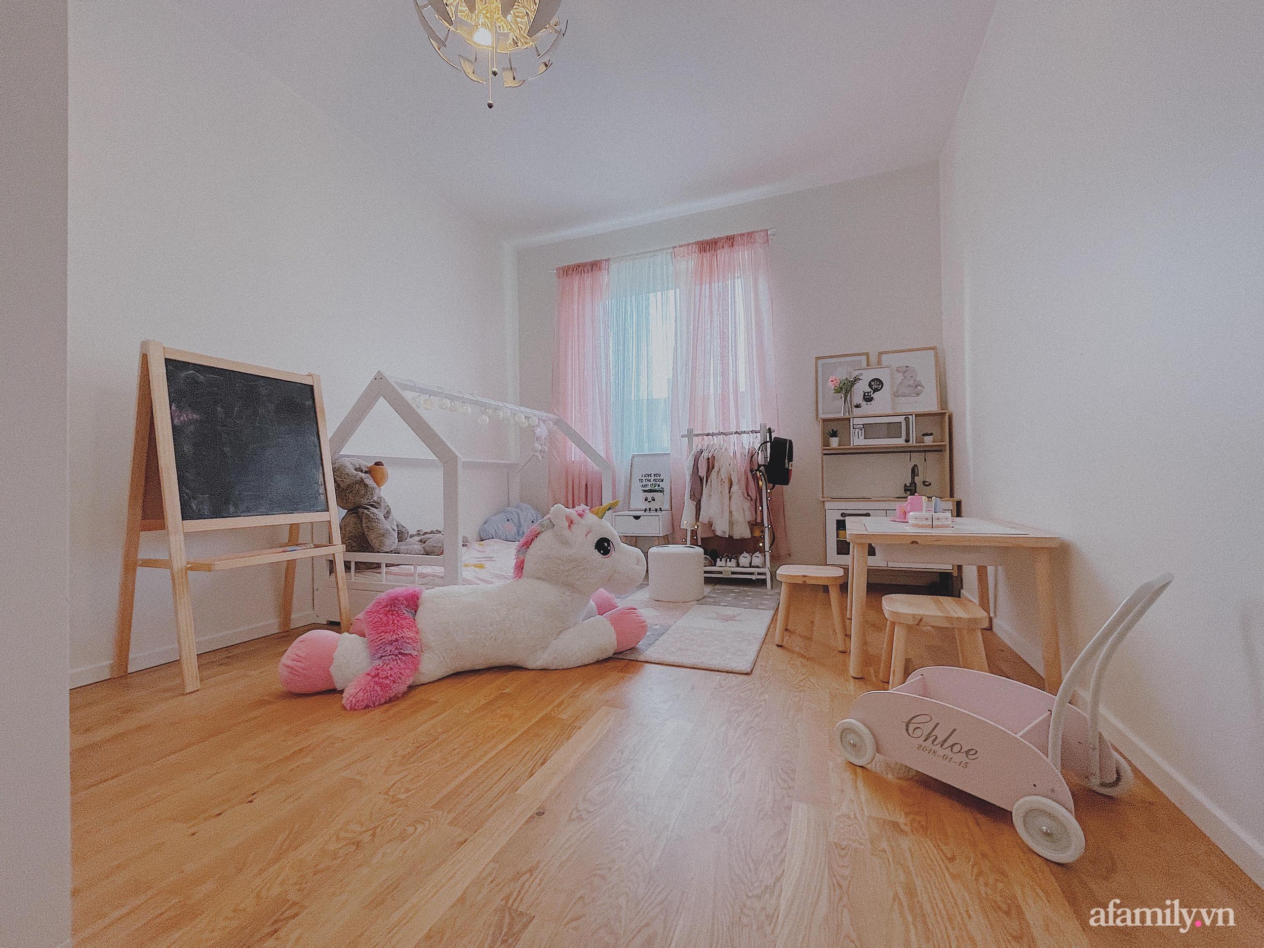 """Căn phòng màu hồng ngọt ngào """"lịm tim"""" bố mẹ thiết kế dành tặng con gái 3 tuổi - Ảnh 1."""