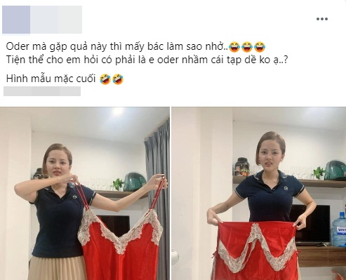 Mua chiếc váy ngủ gợi cảm, cô gái không ngờ shop lại chuyển nhầm size tạp dề khiến hình ảnh sau khi mặc đúng chất tấu hài chuyên nghiệp - Ảnh 1.