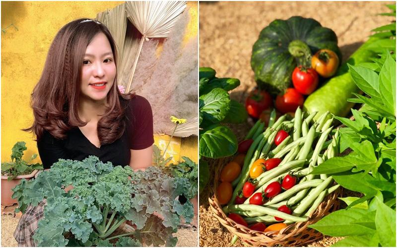 Khu vườn 70m² xanh mát rau quả quanh năm nhờ mẹ đảm mát tay ở Huế