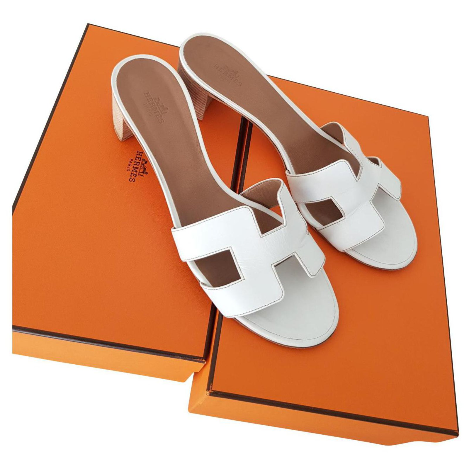 white leather hermes oasis sandals mules 16124140515531356439678