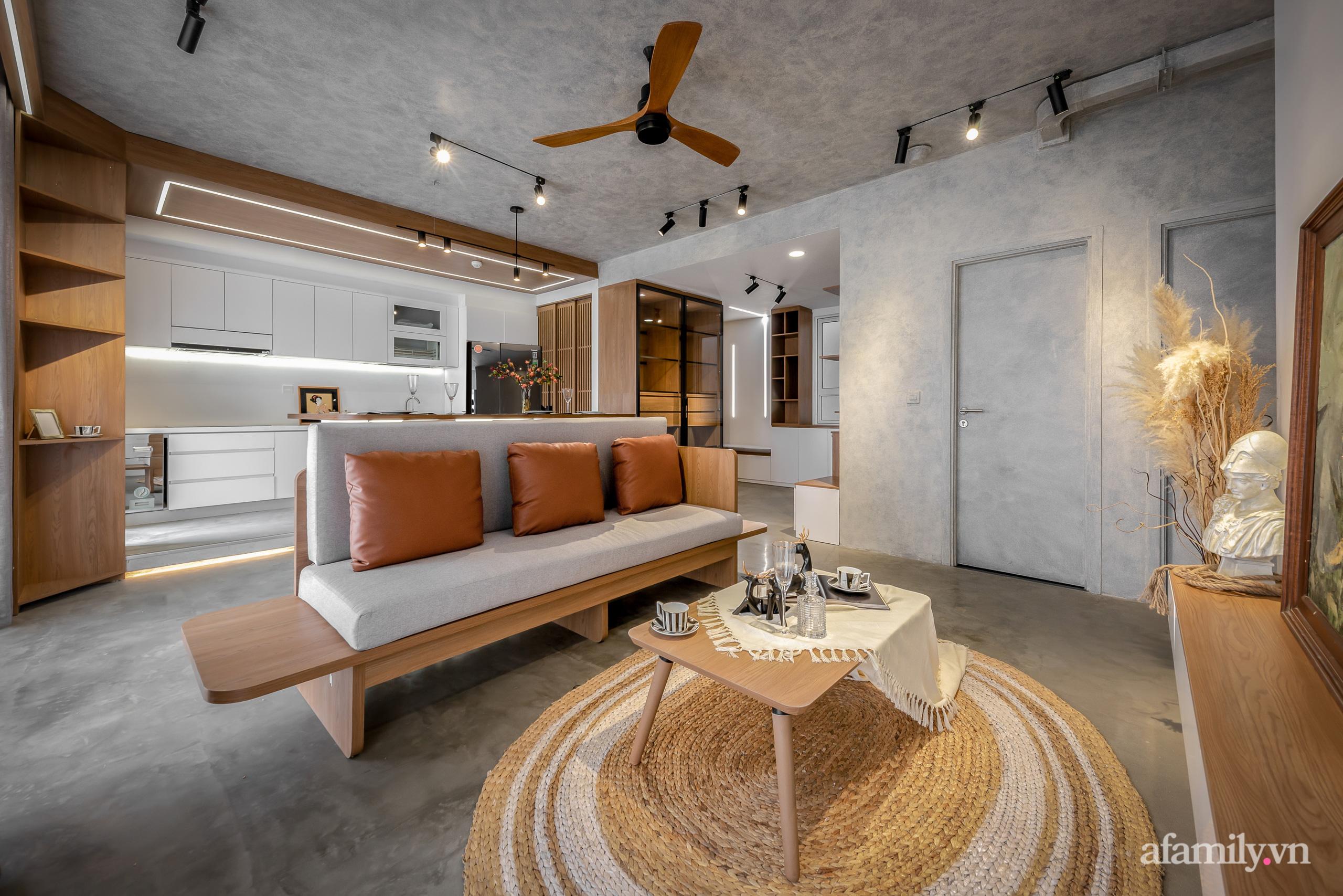 Căn hộ 106m² đẹp cá tính với hiệu ứng bê tông cùng phong cách tối giản có chi phí hoàn thiện 950 triệu đồng ở Sài Gòn - Ảnh 2.
