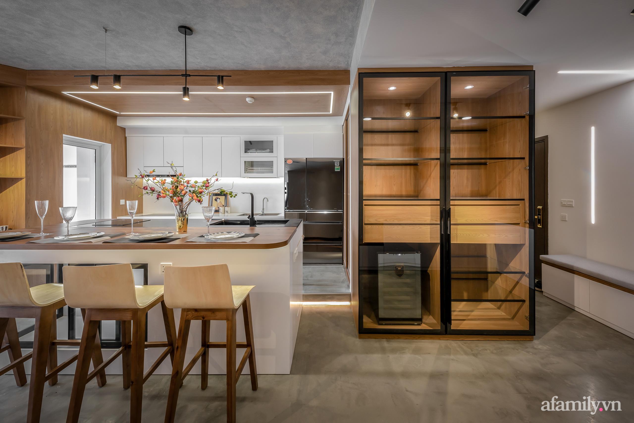 Căn hộ 106m² đẹp cá tính với hiệu ứng bê tông cùng phong cách tối giản có chi phí hoàn thiện 950 triệu đồng ở Sài Gòn - Ảnh 9.