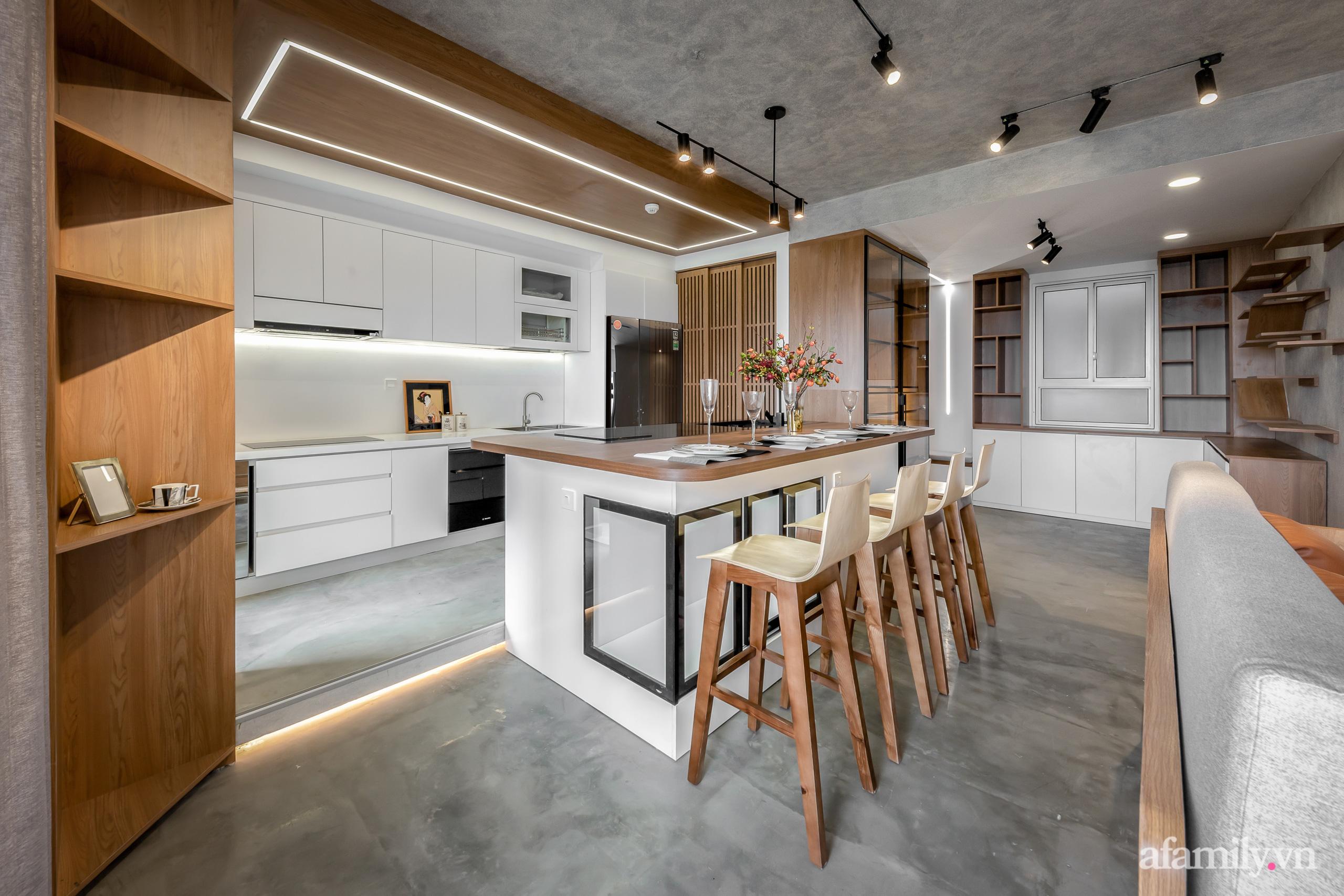 Căn hộ 106m² đẹp cá tính với hiệu ứng bê tông cùng phong cách tối giản có chi phí hoàn thiện 950 triệu đồng ở Sài Gòn - Ảnh 5.