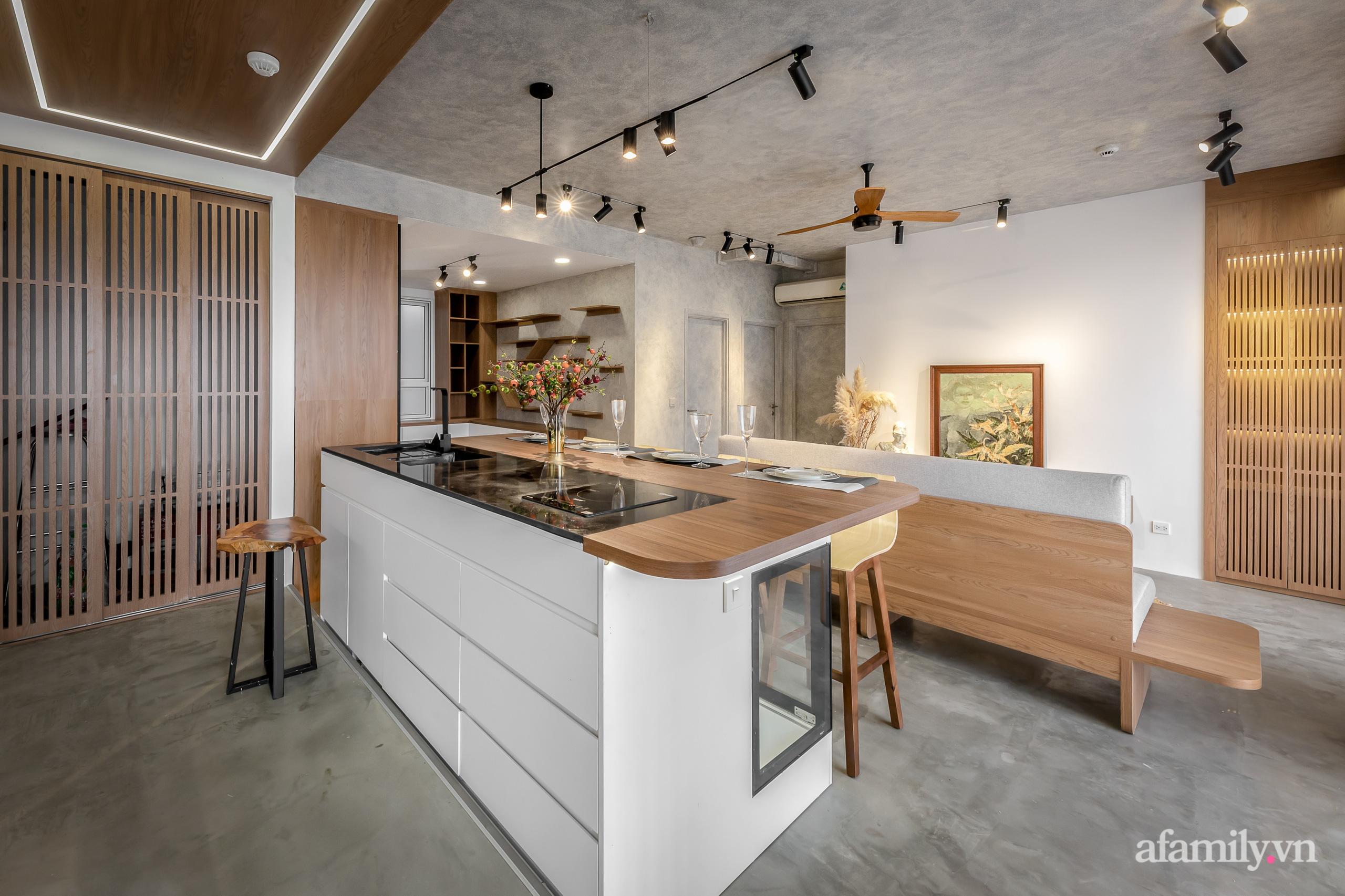 Căn hộ 106m² đẹp cá tính với hiệu ứng bê tông cùng phong cách tối giản có chi phí hoàn thiện 950 triệu đồng ở Sài Gòn - Ảnh 6.