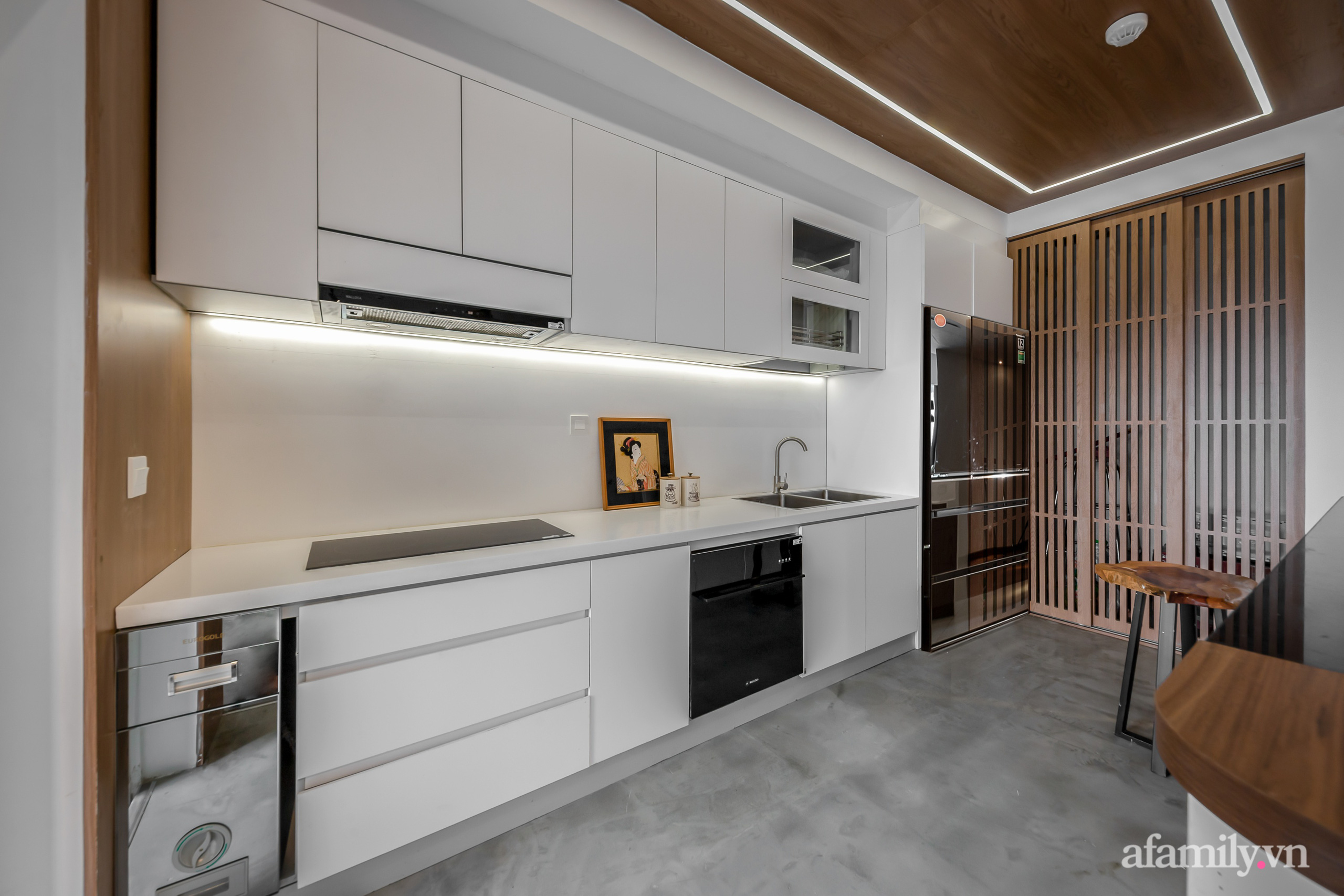 Căn hộ 106m² đẹp cá tính với hiệu ứng bê tông cùng phong cách tối giản có chi phí hoàn thiện 950 triệu đồng ở Sài Gòn - Ảnh 7.