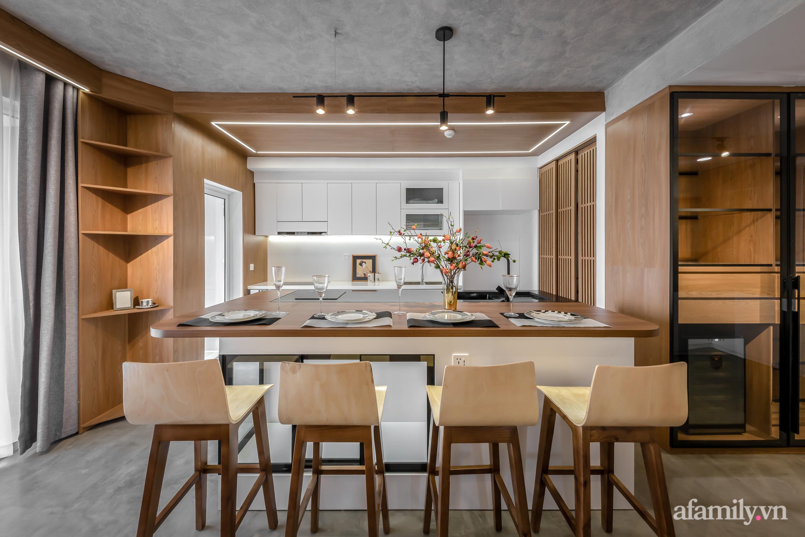 Căn hộ 106m² đẹp cá tính với hiệu ứng bê tông cùng phong cách tối giản có chi phí hoàn thiện 950 triệu đồng ở Sài Gòn - Ảnh 8.