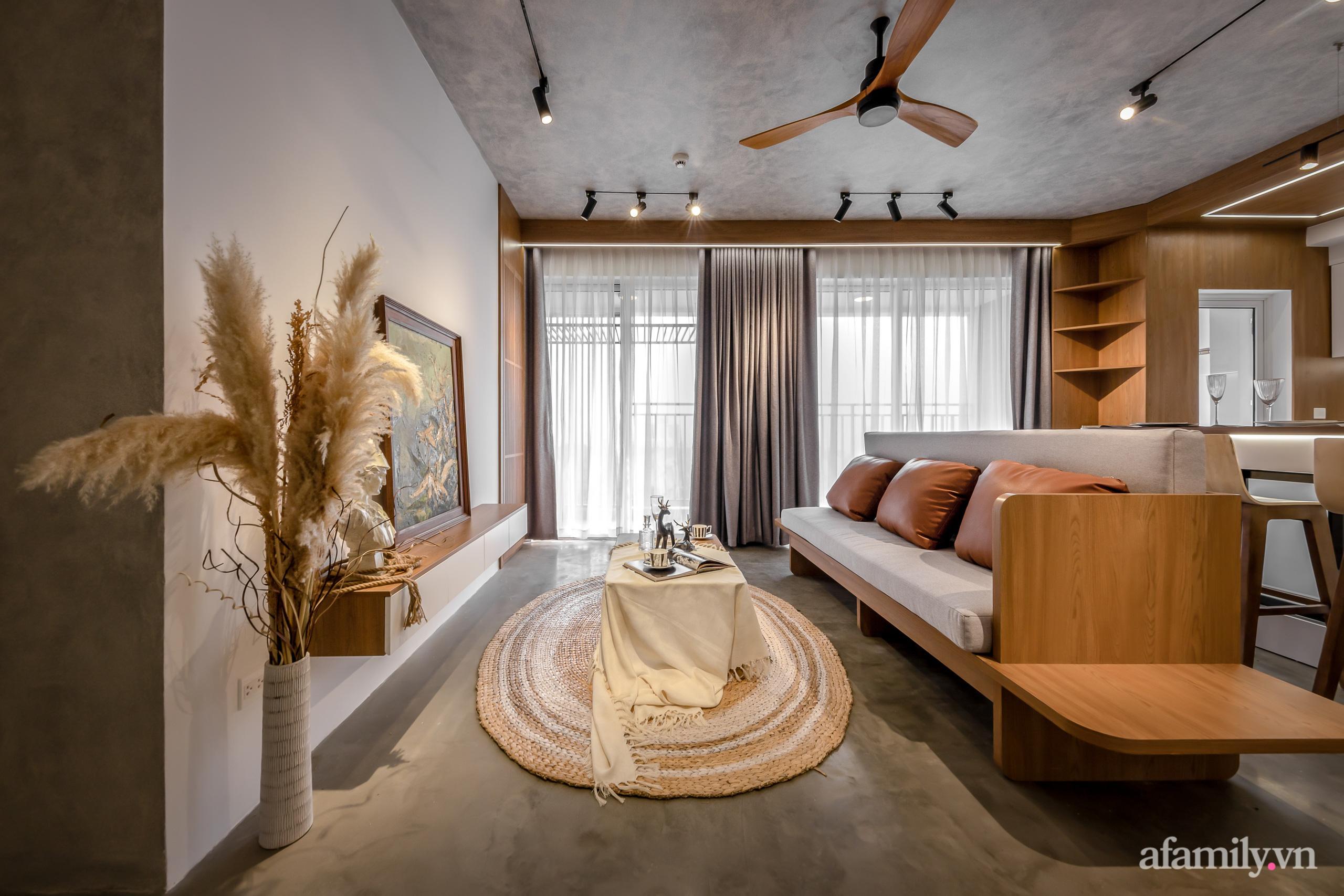 Căn hộ 106m² đẹp cá tính với hiệu ứng bê tông cùng phong cách tối giản có chi phí hoàn thiện 950 triệu đồng ở Sài Gòn - Ảnh 3.