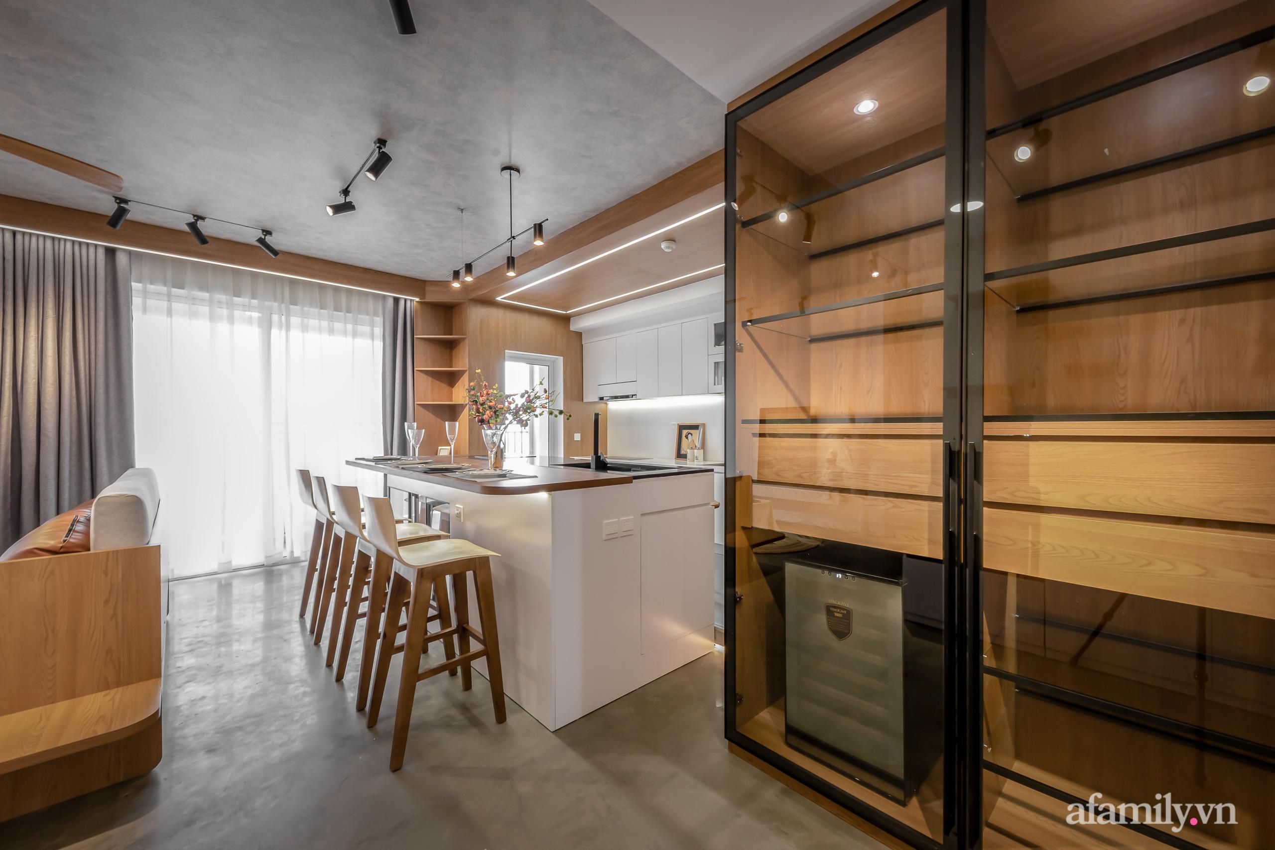 Căn hộ 106m² đẹp cá tính với hiệu ứng bê tông cùng phong cách tối giản có chi phí hoàn thiện 950 triệu đồng ở Sài Gòn - Ảnh 13.