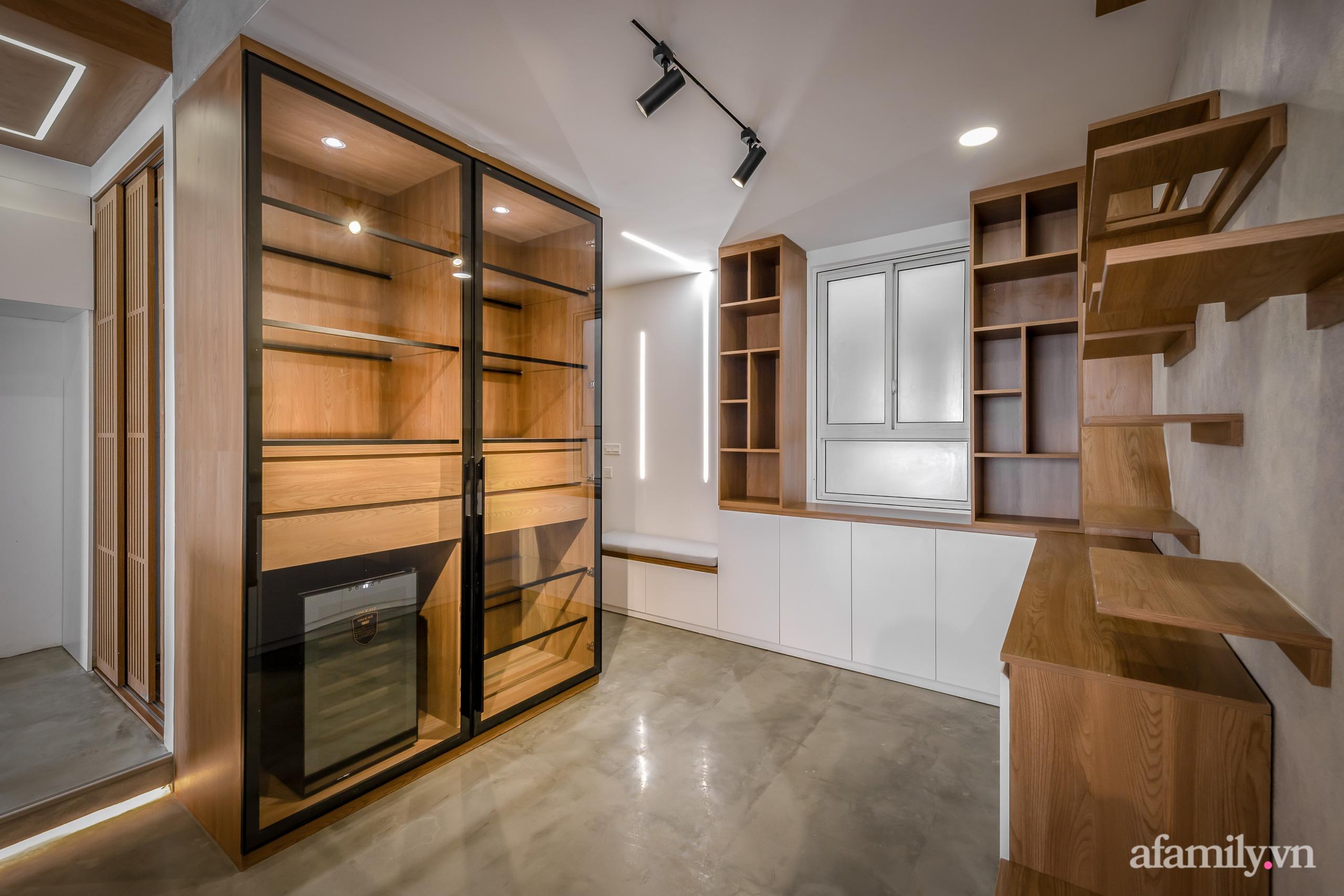 Căn hộ 106m² đẹp cá tính với hiệu ứng bê tông cùng phong cách tối giản có chi phí hoàn thiện 950 triệu đồng ở Sài Gòn - Ảnh 12.