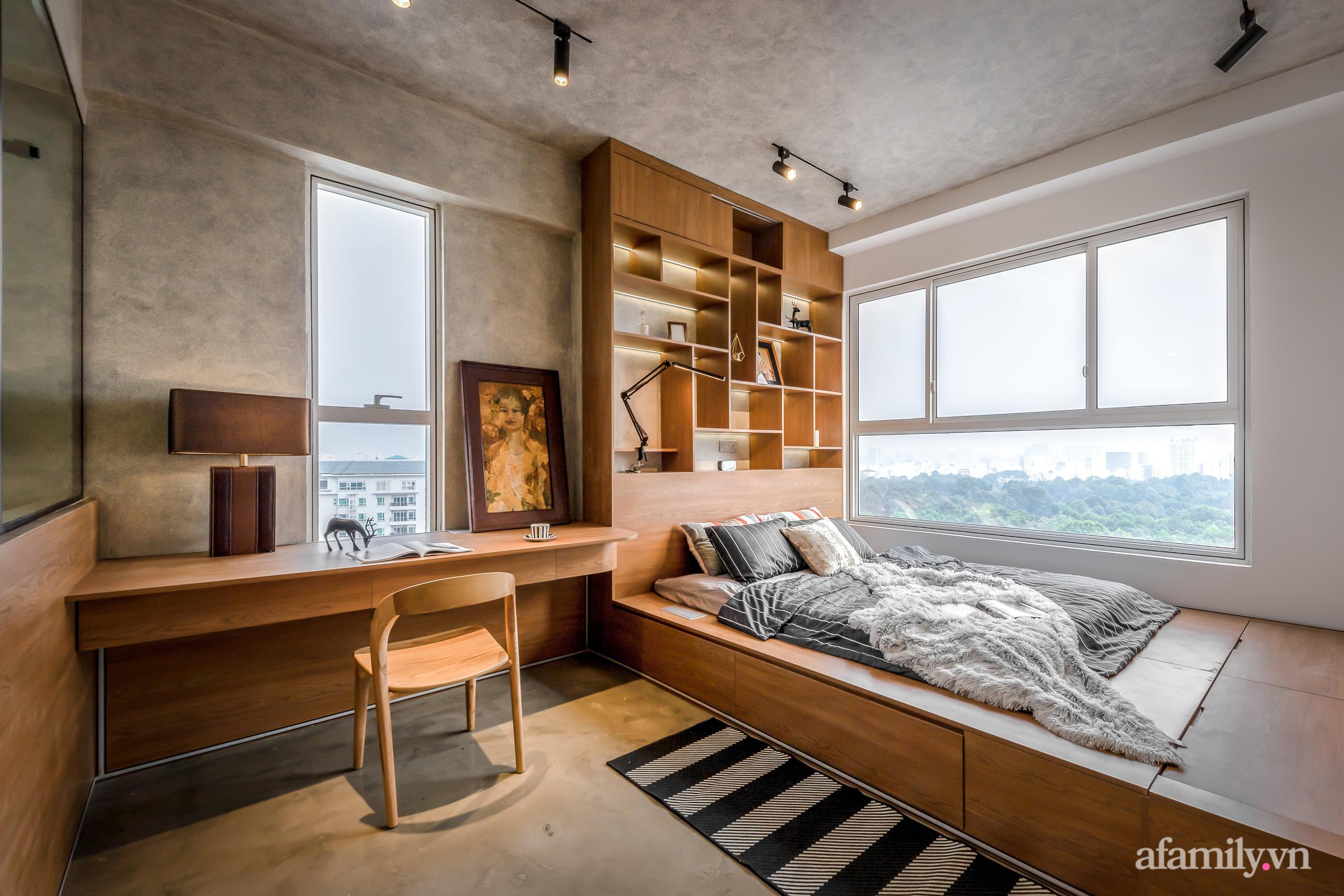 Căn hộ 106m² đẹp cá tính với hiệu ứng bê tông cùng phong cách tối giản có chi phí hoàn thiện 950 triệu đồng ở Sài Gòn - Ảnh 19.