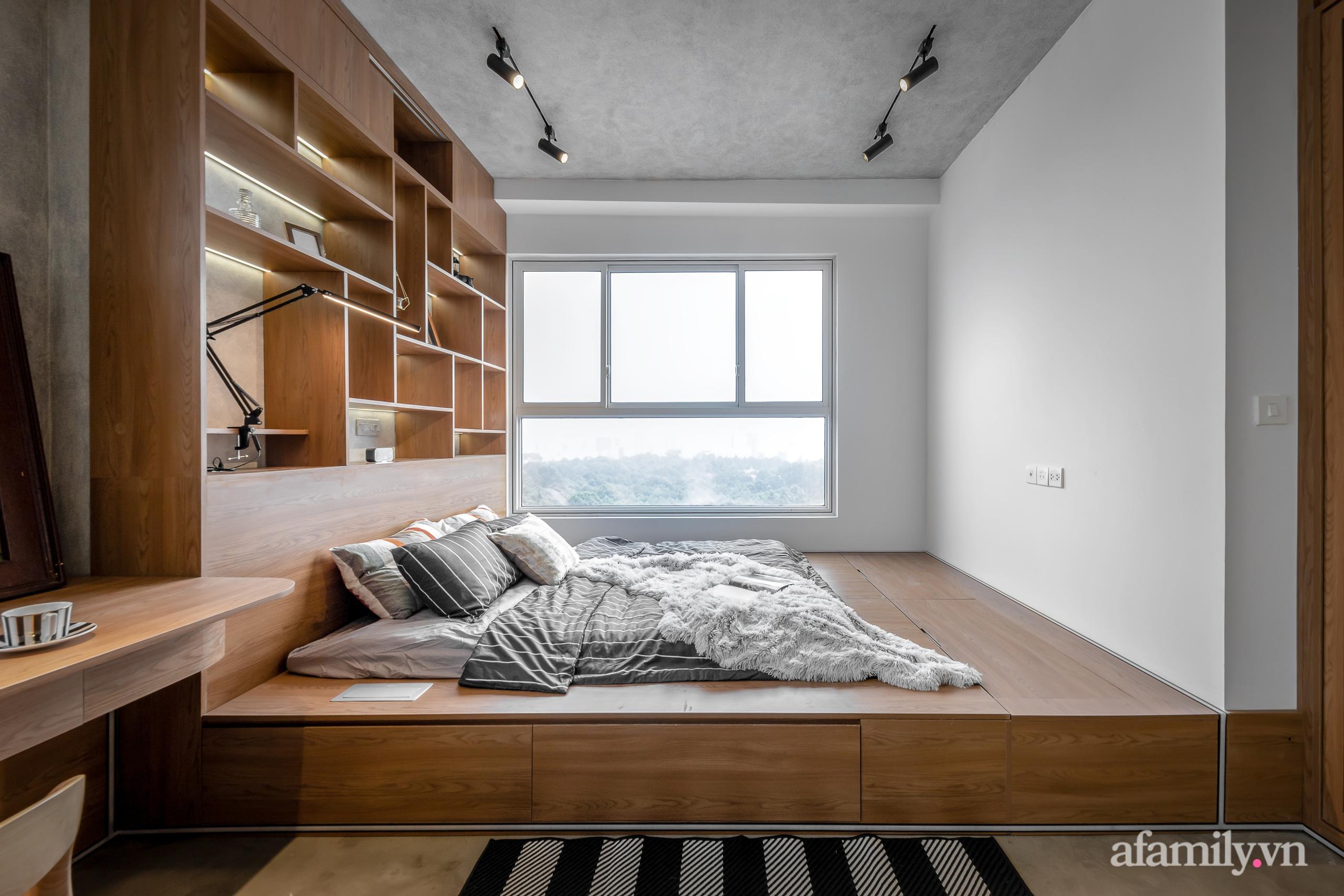 Căn hộ 106m² đẹp cá tính với hiệu ứng bê tông cùng phong cách tối giản có chi phí hoàn thiện 950 triệu đồng ở Sài Gòn - Ảnh 15.