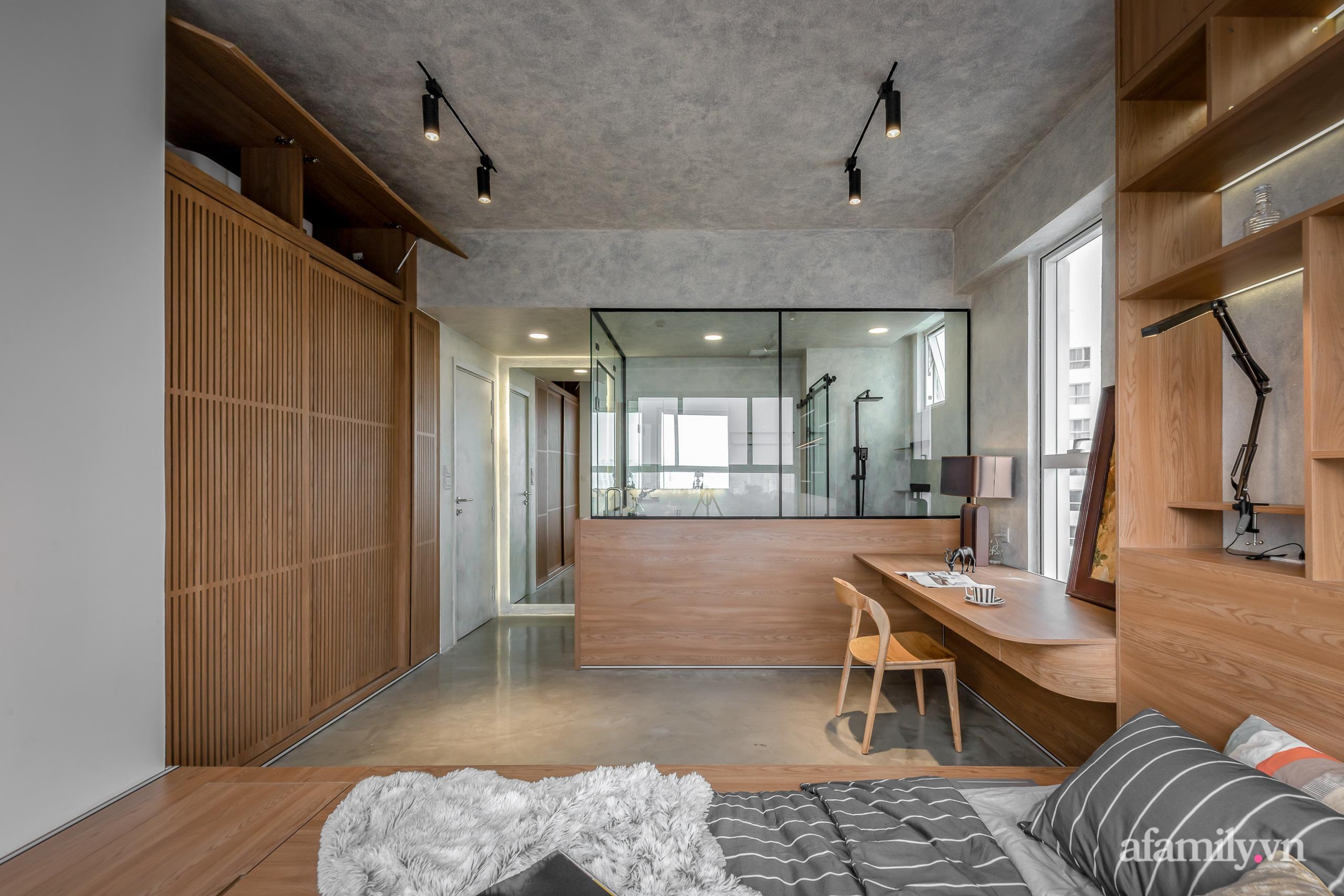 Căn hộ 106m² đẹp cá tính với hiệu ứng bê tông cùng phong cách tối giản có chi phí hoàn thiện 950 triệu đồng ở Sài Gòn - Ảnh 17.
