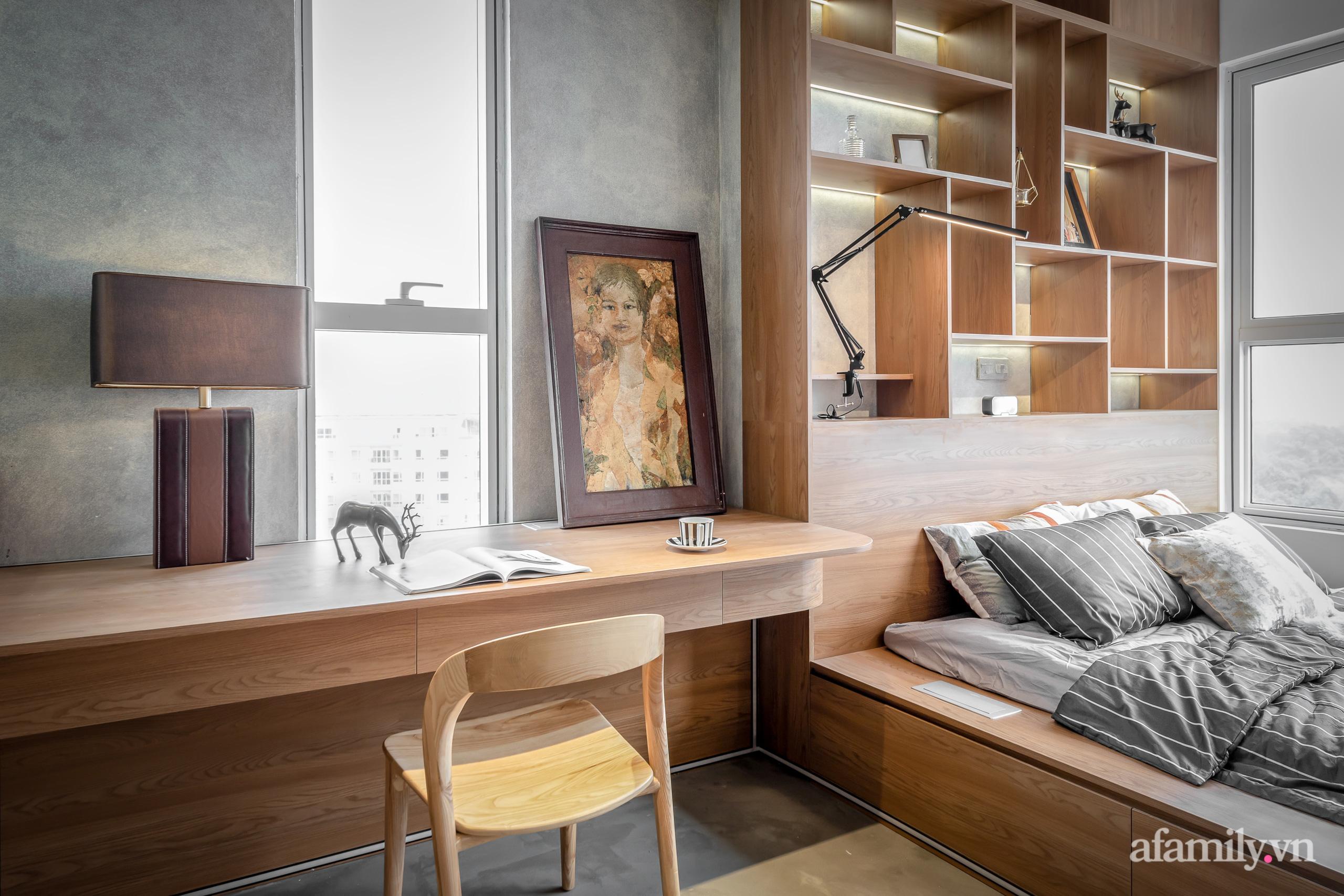 Căn hộ 106m² đẹp cá tính với hiệu ứng bê tông cùng phong cách tối giản có chi phí hoàn thiện 950 triệu đồng ở Sài Gòn - Ảnh 18.