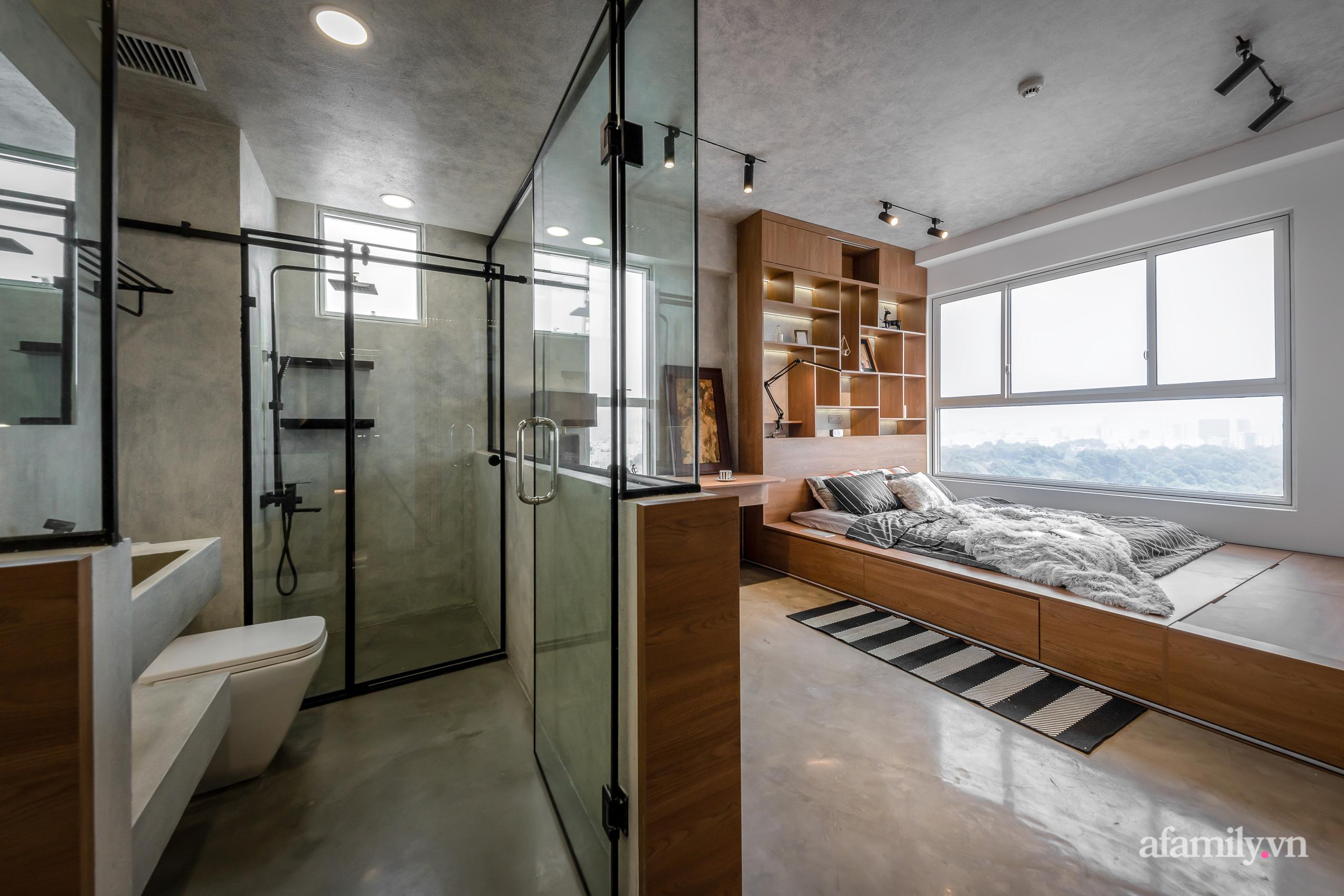 Căn hộ 106m² đẹp cá tính với hiệu ứng bê tông cùng phong cách tối giản có chi phí hoàn thiện 950 triệu đồng ở Sài Gòn - Ảnh 22.