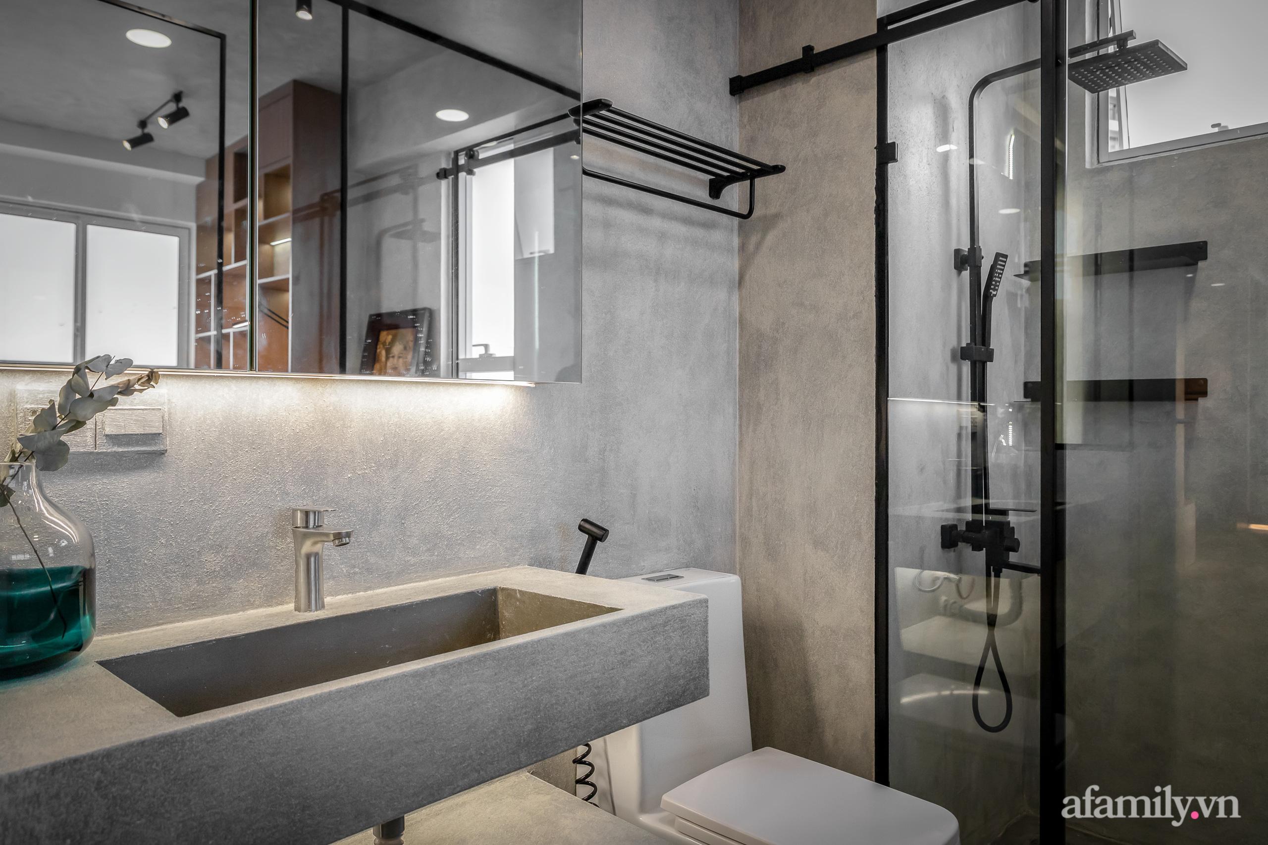 Căn hộ 106m² đẹp cá tính với hiệu ứng bê tông cùng phong cách tối giản có chi phí hoàn thiện 950 triệu đồng ở Sài Gòn - Ảnh 23.