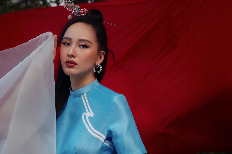 Stylist tiếu lộ Mai Phương Thúy hơn 10 năm mới diện áo dài: Nàng Hậu gợi cảm nhất Vbiz bỗng đẹp thanh tao đến ngây người - Ảnh 5.