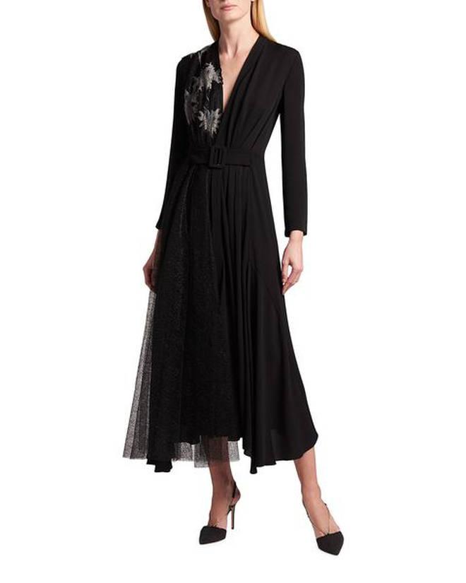 """Bóc giá chiếc váy bị chê """"dính phân chim"""" của Meghan Markle: Hàng hiệu giá 108 triệu, """"hack dáng"""" cực đỉnh cho bà bầu! - Ảnh 4."""