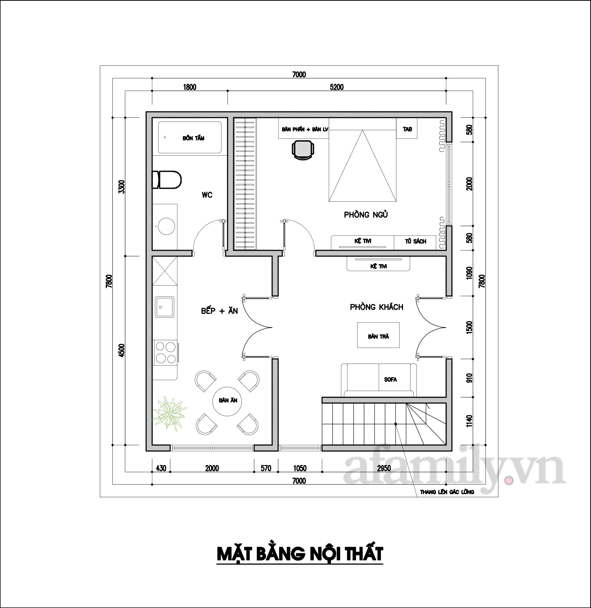 Kiến trúc sư tư vấn thiết kế cải tạo ngôi nhà cấp 4 rộng 54m² với chi phí 210 triệu đồng - Ảnh 2.