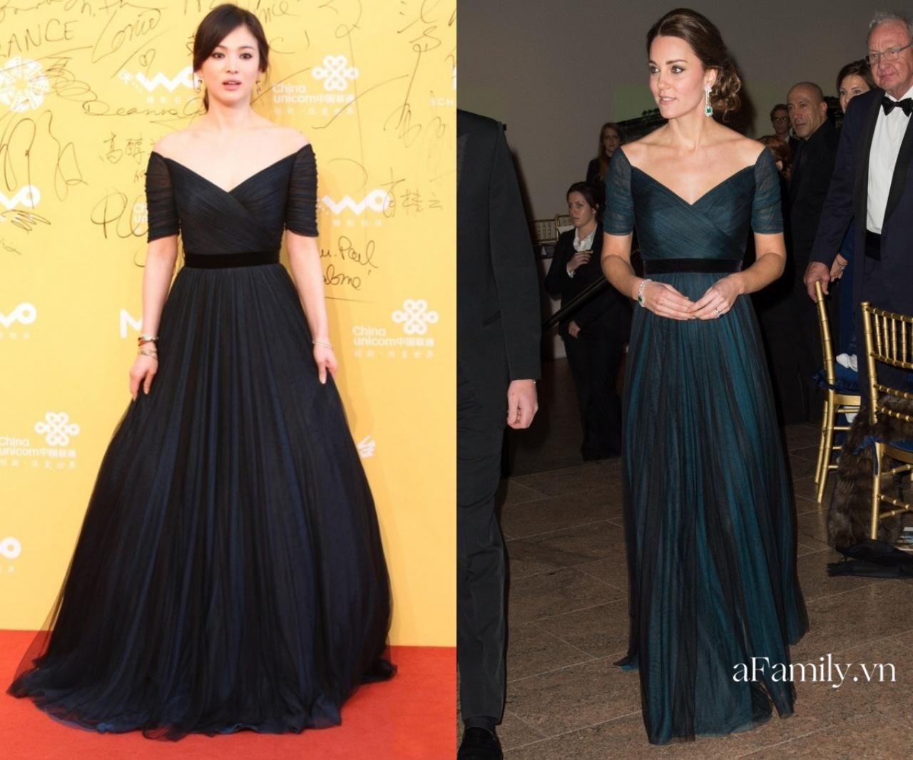 """Đụng váy với Công nương Kate, Song Hye Kyo chẳng có """"cửa"""" so bì mà đã bị khí chất Hoàng gia đè bẹp - Ảnh 1."""