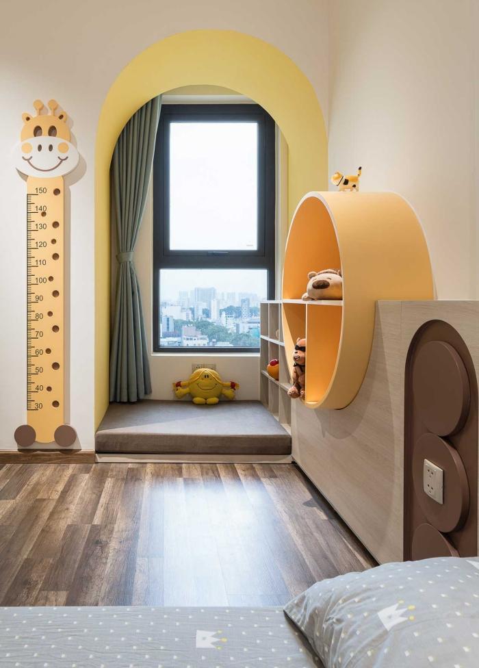 Căn hộ chỉ 89m² đẹp cá tính và năng động với hình khối và color block - Ảnh 9.