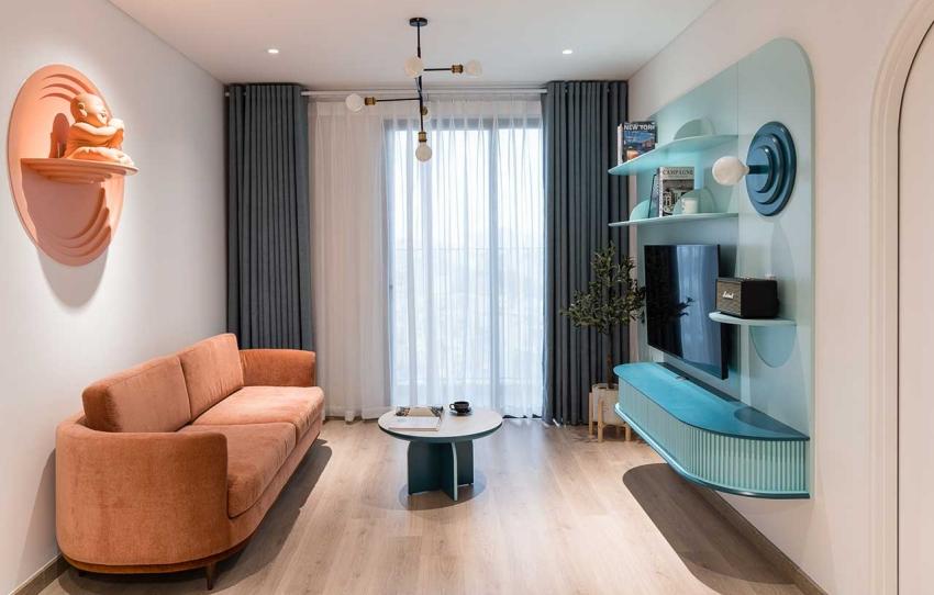 Căn hộ chỉ 89m² đẹp cá tính và năng động với hình khối và color block - Ảnh 3.