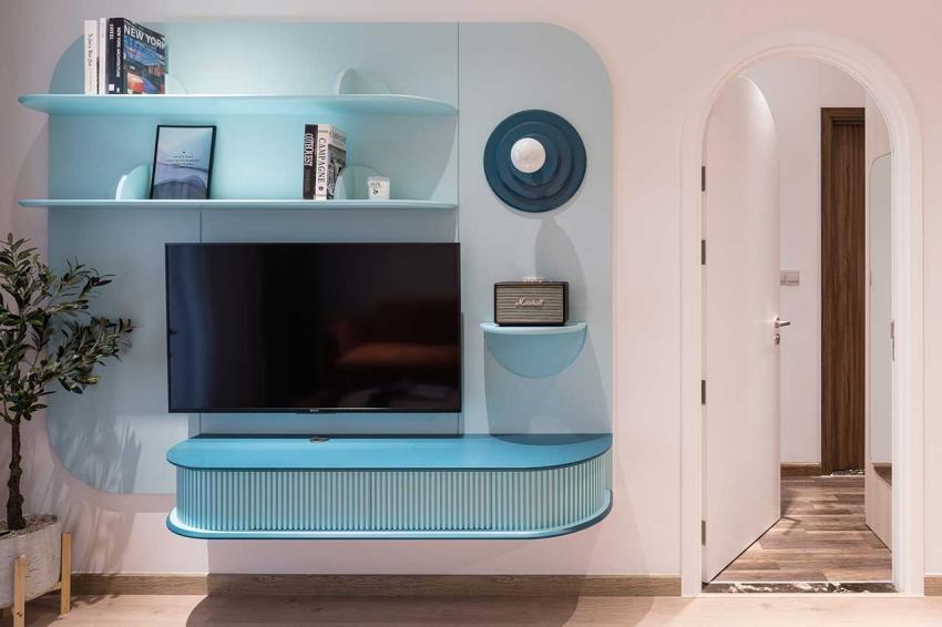 Căn hộ chỉ 89m² đẹp cá tính và năng động với hình khối và color block - Ảnh 6.