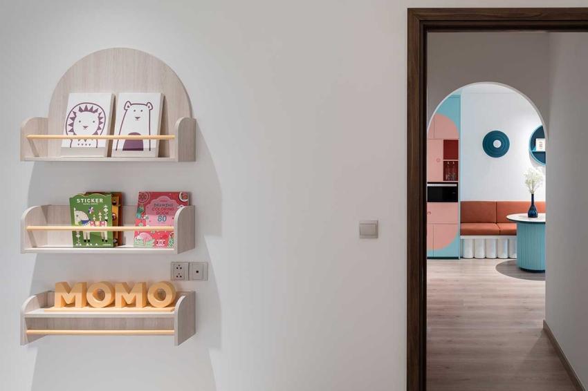 Căn hộ chỉ 89m² đẹp cá tính và năng động với hình khối và color block - Ảnh 8.