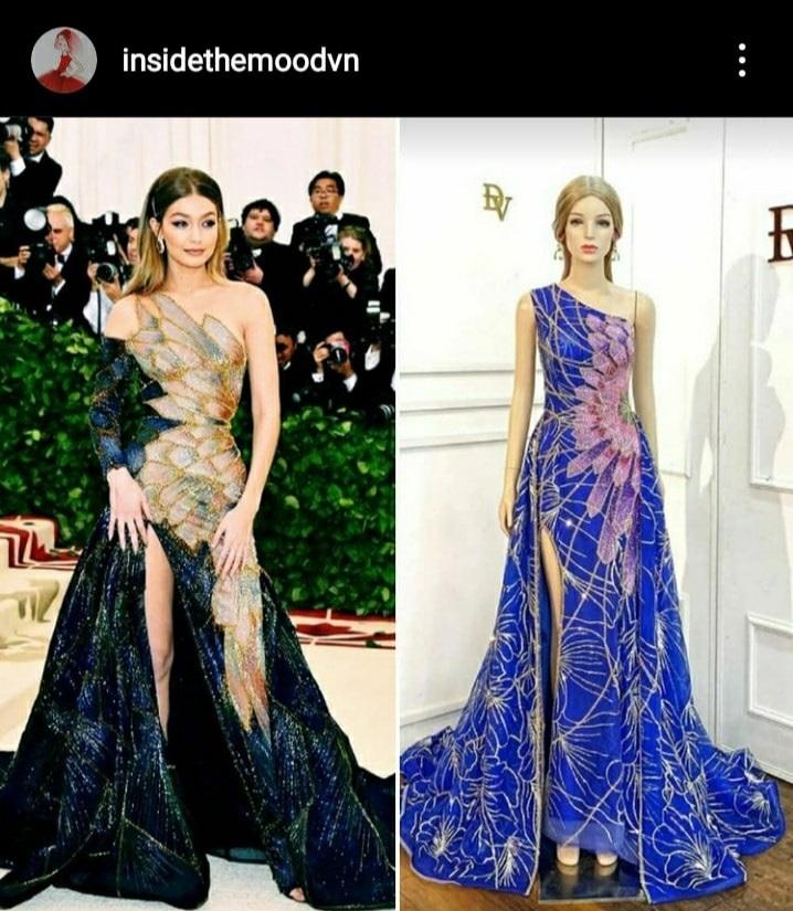 Thí sinh Hoa hậu Hoàn Vũ bị tố diện váy nhái, so kè với bản gốc mà bẽ bàng vì đẳng cấp - Ảnh 2.