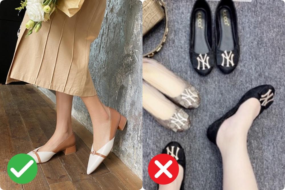 giày bệt cho nang chân ngắn - Ảnh 1.