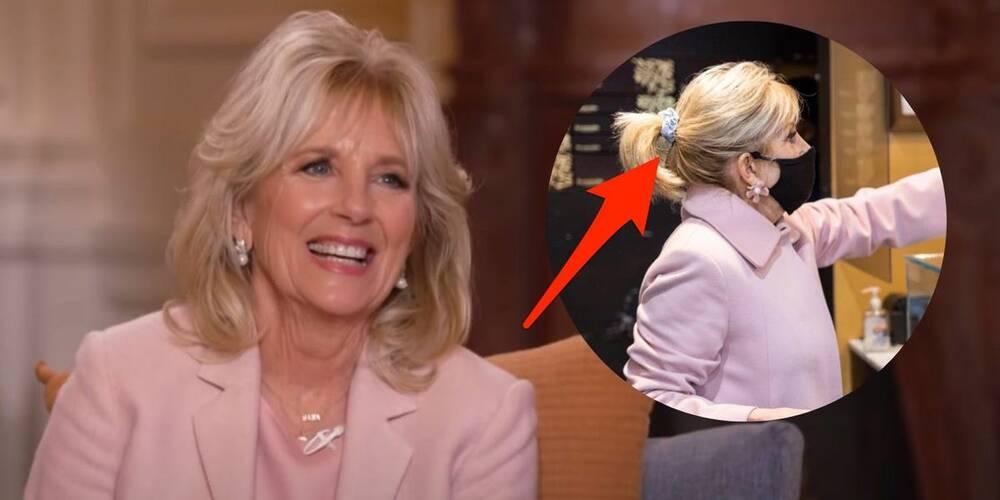 """Phu nhân Tổng thống Biden """"bắt trend"""" style Hàn với chiếc chun buộc tóc sành điệu không khác gì Jennie (Black Pink) - Ảnh 3."""