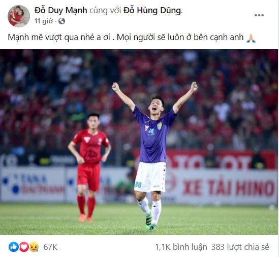 """Duy Mạnh, Quang Hải cùng đăng status động viên Hùng Dũng sau chấn thương, BTV Quang Minh bình luận: """"Buồn, giận thật sự"""" - Ảnh 5."""