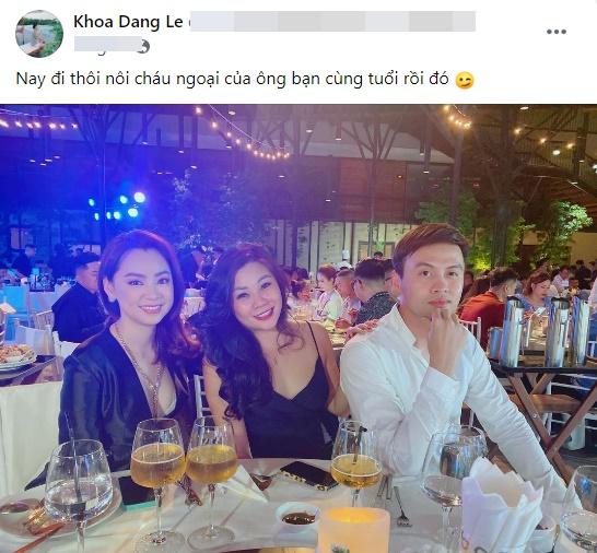 Cùng sinh năm 1983, Minh Nhựa thân thiết mời anh bạn độc thân Shark Khoa đi sinh nhật cháu ngoại - Ảnh 1.