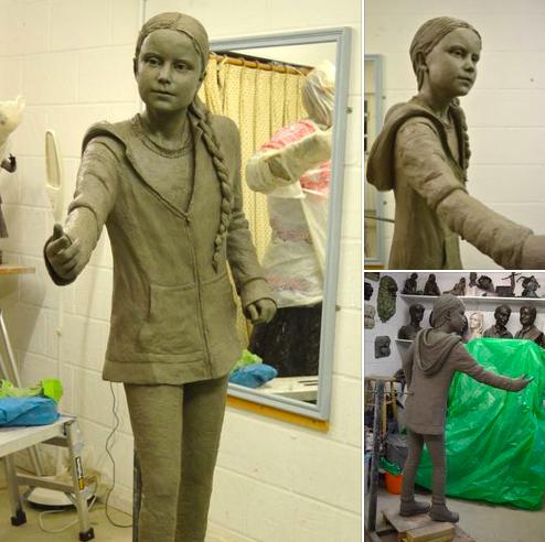 Đại học Anh bị chỉ trích vì dựng tượng chiến binh khí hậu Greta Thunberg - Ảnh 2.