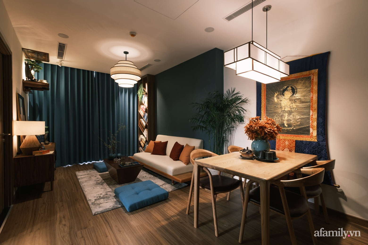 Căn hộ 60m² đẹp tĩnh lặng và tinh tế mang hơi thở của Zen ở quận 7 Sài Gòn - Ảnh 5.