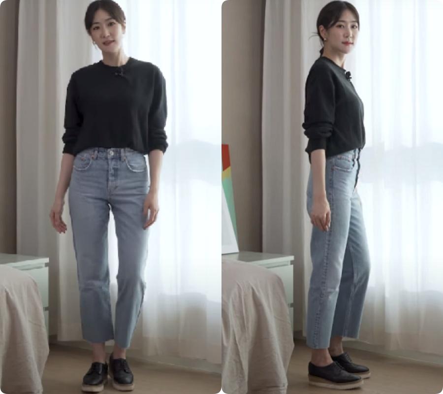 Blogger người Hàn chỉ ra dáng quần jeans hack chân dài vi diệu nhất của Zara - Ảnh 4.